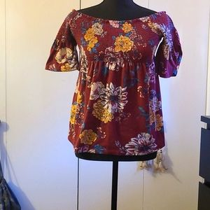 Xhilaration floral baby doll top